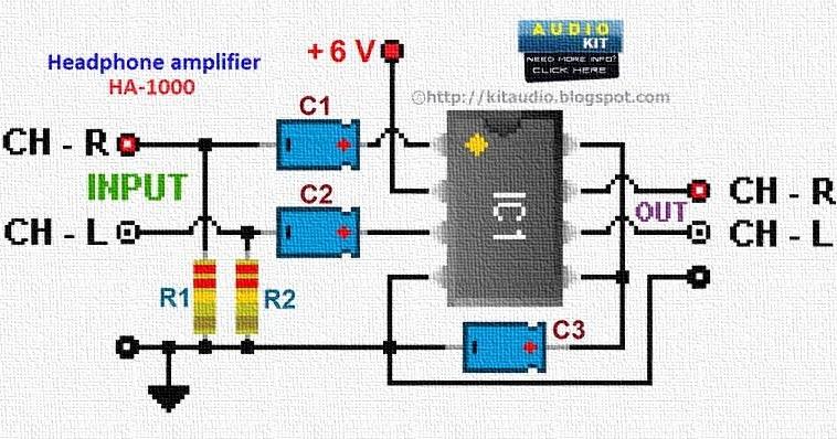 Usb Microphone Wiring Diagram Audio Kit Tda2822m Stereo Headphone Amplifier