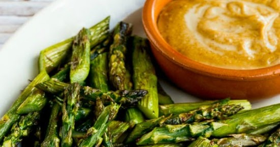 Kalyn's Kitchen®: Roasted Asparagus with Creamy Tahini ...