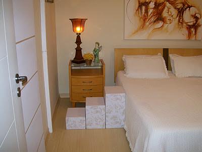 escadas para camas com duplo colchão