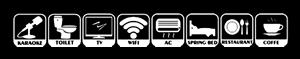 Stiker Fasilitas Putih
