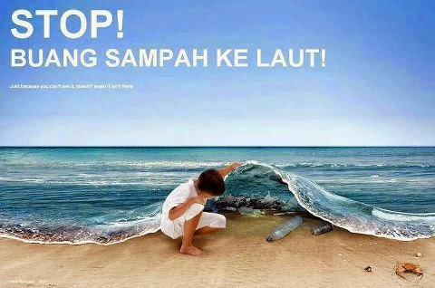 STOP! Dispose of garbage into the sea!