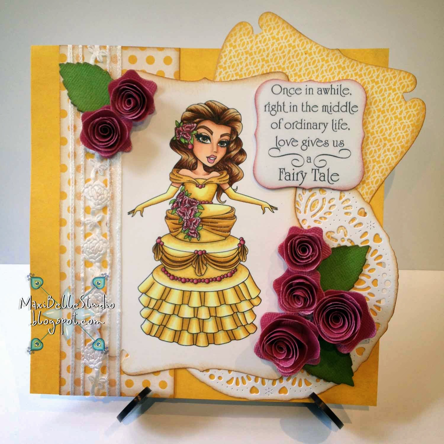 Sassy Studio Designs Beauty and the Beast Cake