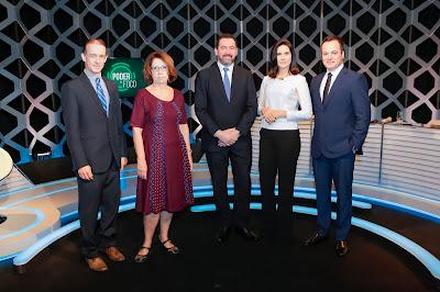 Aluisio Alves, Cida Damasco, Dyogo, Débora e Marcelo Torres (Crédito: Gabriel Cardoso/SBT)