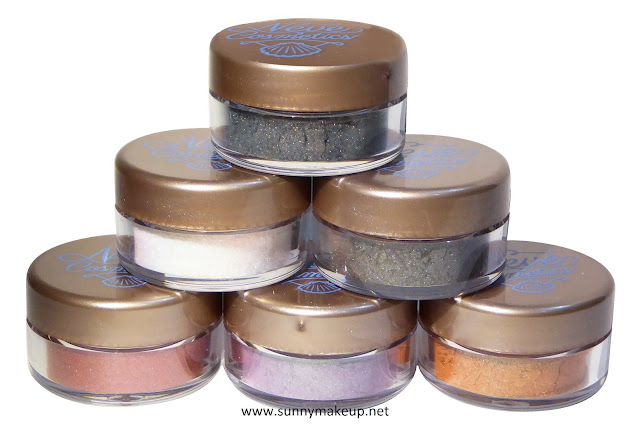 Neve Cosmetics - Sisters of Pearl. Ombretti minerali: Nautilus, Seahorse, Oyster, Jellyfish, Coral Reef, Submarine.