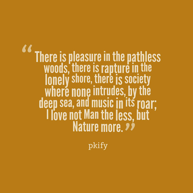 There is Pleasure in the Pathless Woods Nature Quotes
