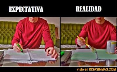 Expectativa vs Realidad: pintando