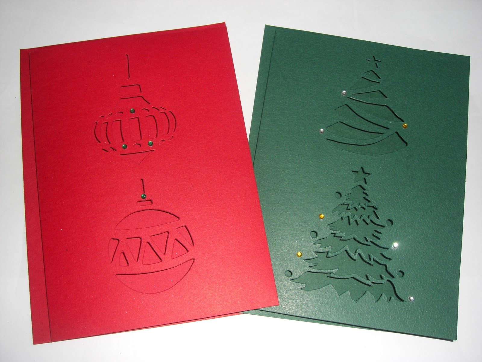 Sweet Pea Design: Christmas Tree And Bauble Laser Cut Cards