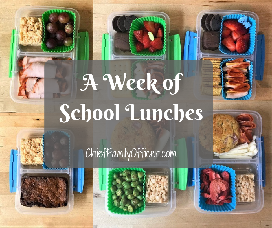 A Week of School Lunches | Chief Family Officer