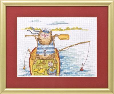Скачать схему вышивки рыбалка