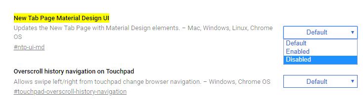 Google Chrome'daki klasik Yeni Sekme sayfası