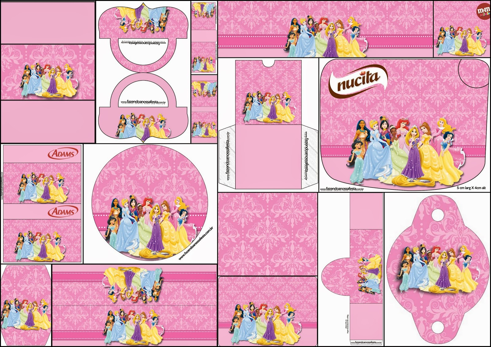 Disney Princess Party: Free Printable Candy Bar Labels. | Oh My ...