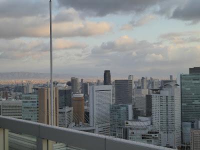 梅田スカイビル空中庭園展望台から望む南側の景色