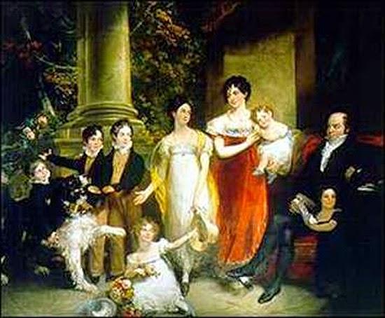 Antigo retrato da família Rothschild