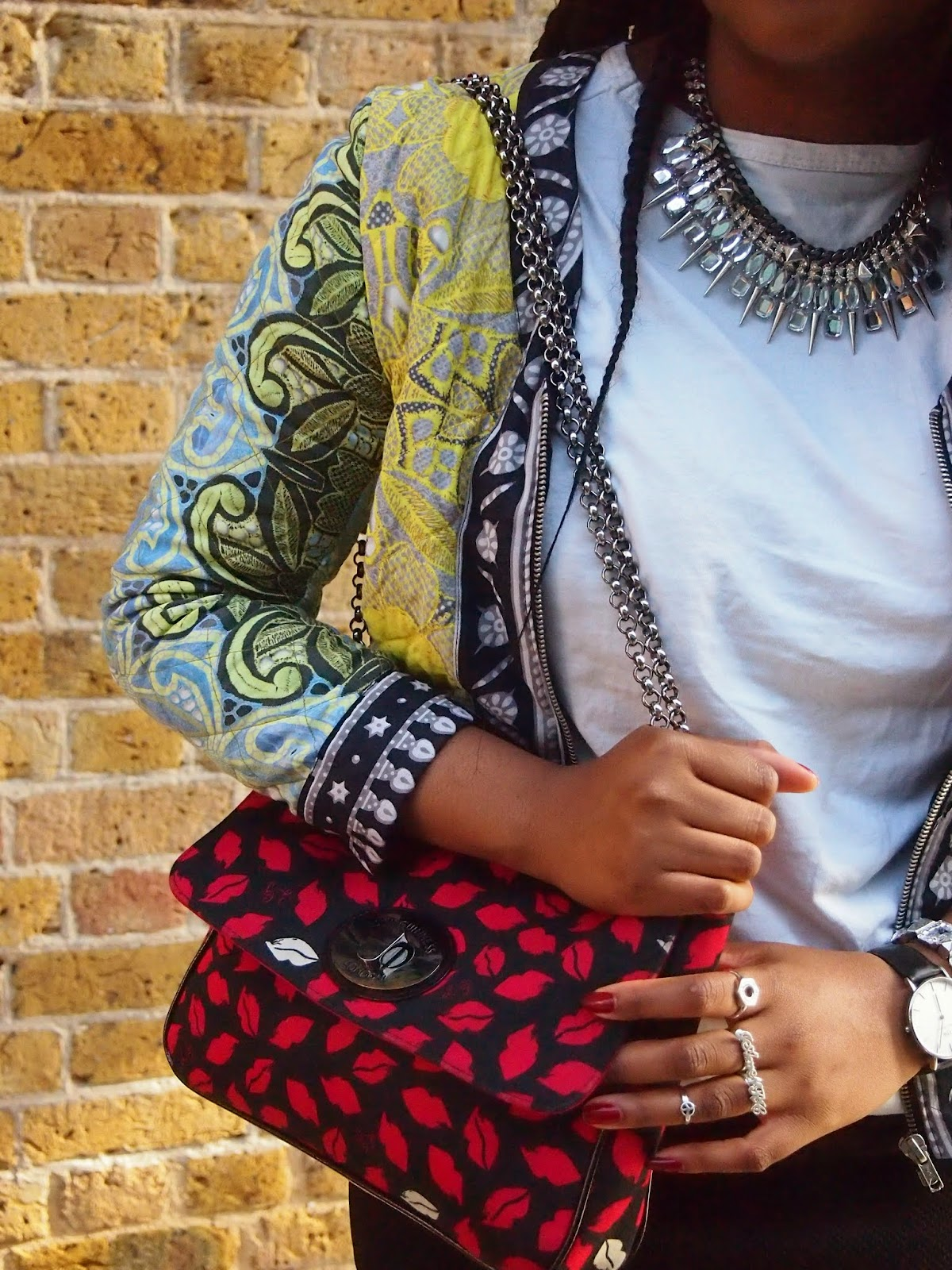 Asos Africa Jacket, Asos Africa, ASOS , Lulu Guinness, Lulu Guinness Print Kiss Bag, Alexander Wang, Alexander Wang Tshirt