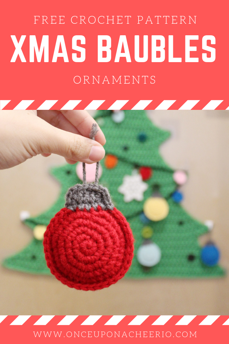 Flatland Christmas Ball Baubles FREE Crochet Pattern