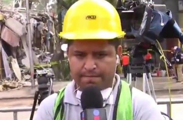 Esposa de microfonista de Imagen TV se encuentra atrapada viva en escombros