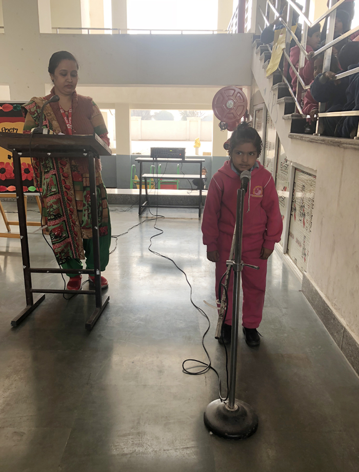 English Poem Recitation Competition Rps Public School Narnaul