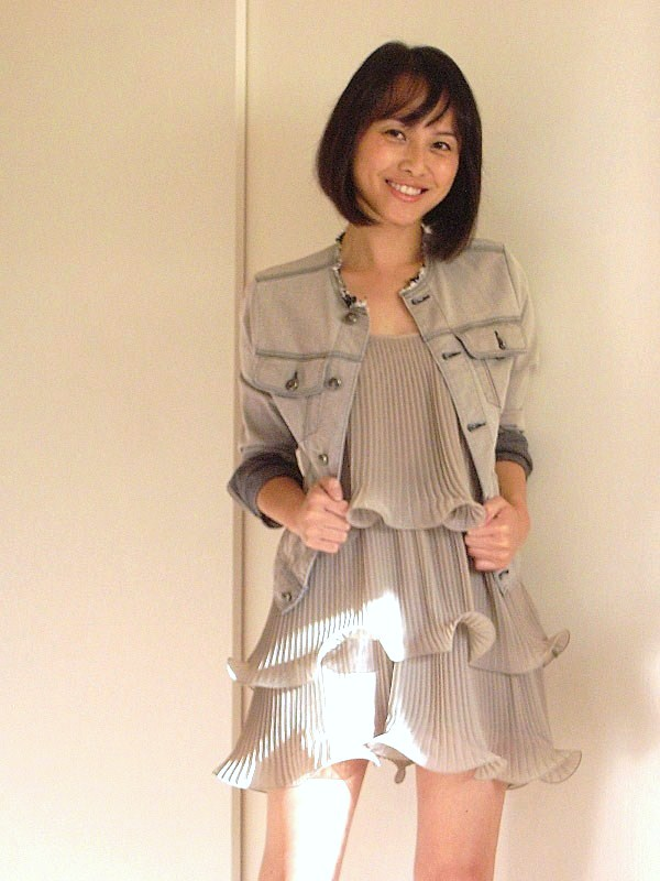 0cd81c5279 Well, I can't toss the dress because I actually do like it. Instead, I  topped the dress with a casual grey denim jacket. This way, casual denim  will balance ...