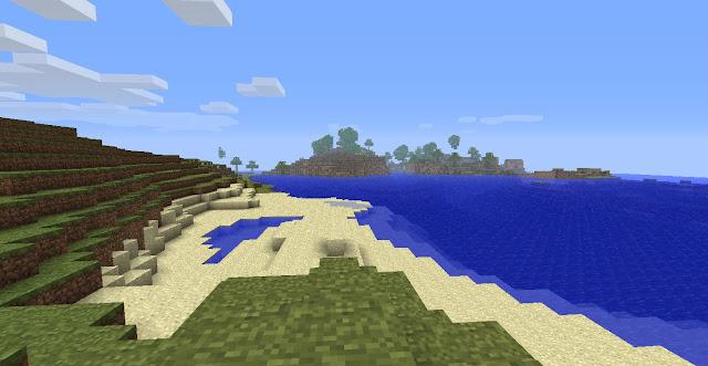 imagen de una playa en minecraft