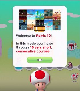 Super Mario Run, Remix 10 Mode, New Update, Screen Shot