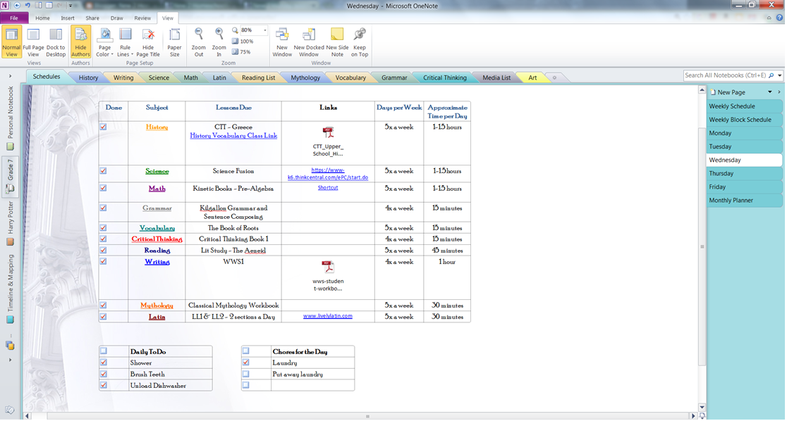template onenote lesson plan templates new 2 homeschooling onenote