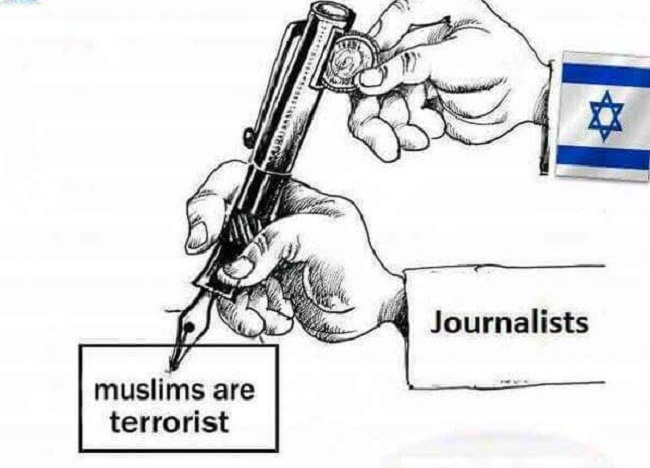 Karikatur Ini Kritik Media Massa Dunia Bayaran Israel