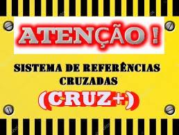 """Imagem de uma placa de atenção, anunciando o início do Sistema de Referências Cruzadas """"CRUZ+"""""""