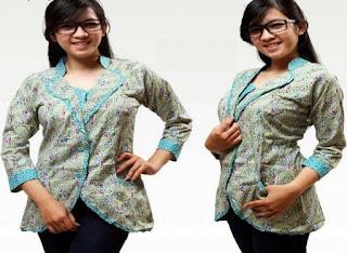 Model Baju Batik Kerja Wanita Modern 2014