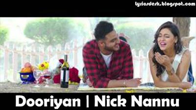 Dooriyan Lyrics - Nick Nannu   Beat Minister   Fresh Media Records