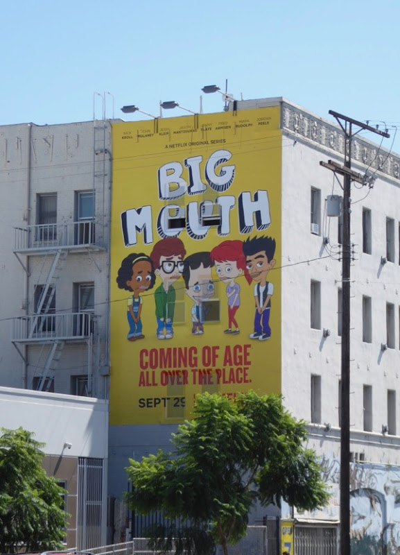 Big Mouth series premiere billboard