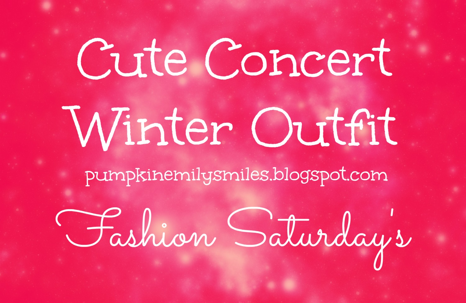 Cute Concert Winter Outfit Fashion Saturday's