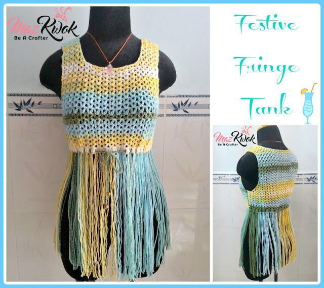 crochet fringe tank top