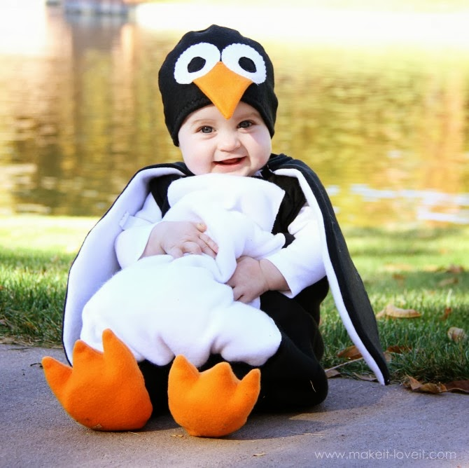 Baby Penguin Costume Tutorial  sc 1 st  Life With 4 Boys & Life With 4 Boys: 15 Amazing DIY Halloween Costume Tutorials for Boys!