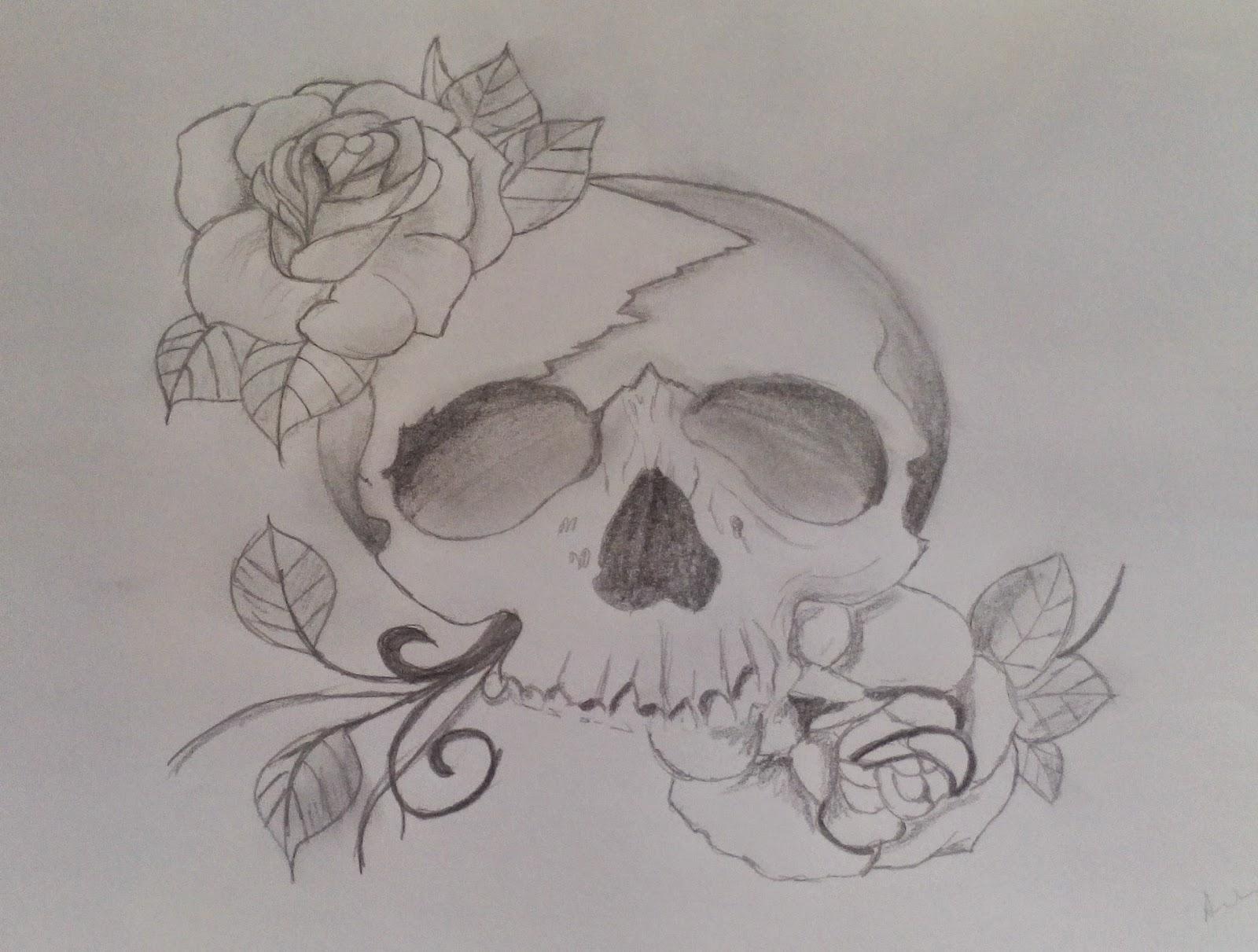 Desenhos Caveira Com Rosas