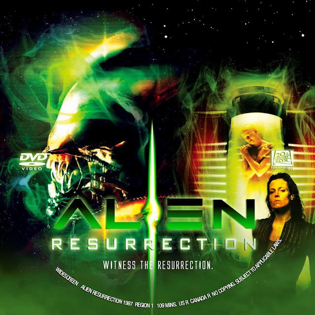 Alien Resurrection DVD Label