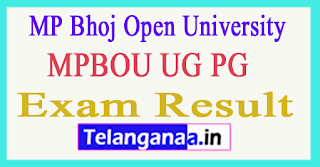 MPBOU Exam Results 2018  MP Bhoj Open University Results 2018