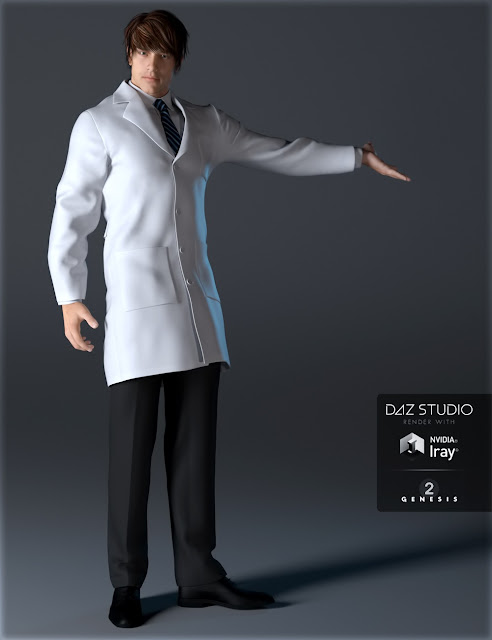 Doctor's Coat and Suit for Genesis 2 Male