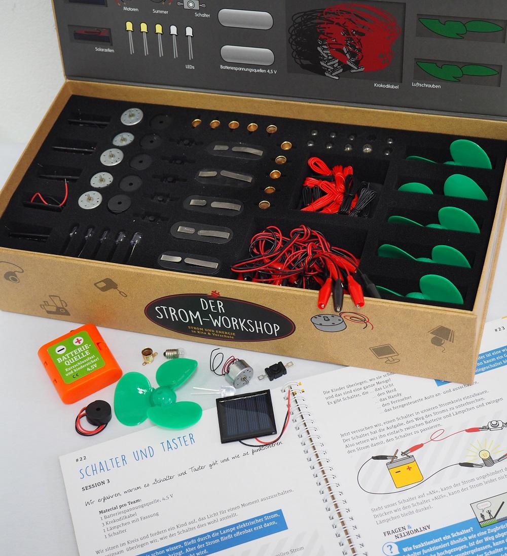 ein elektrobaukasten f r kinder und spannende elektrische experimente. Black Bedroom Furniture Sets. Home Design Ideas