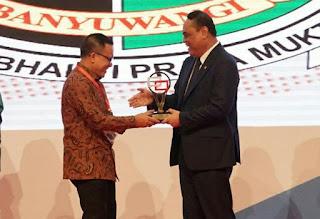 Banyuwangi raih penghargaan Anggakara Birawa 2018.