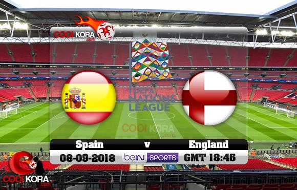 مشاهدة مباراة إنجلترا وأسبانيا اليوم 8-9-2018 دوري الأمم الأوروبية