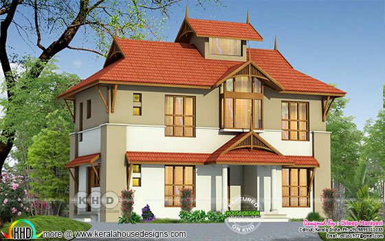 1579 square feet 3 bedroom sloped roof traditional home design