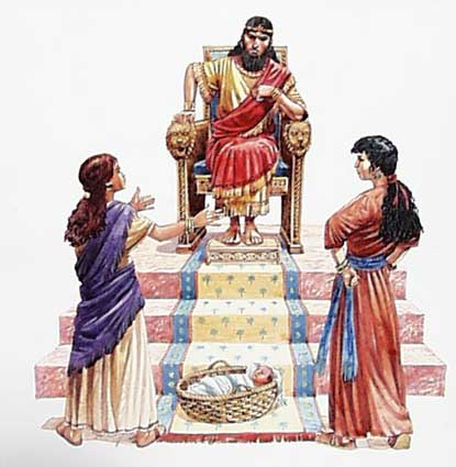 wisdom of solomon and the 2 mothers meet