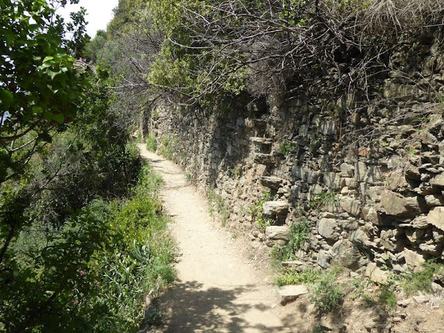 tratto del sentiero azzurro tra Monterosso e Vernazza