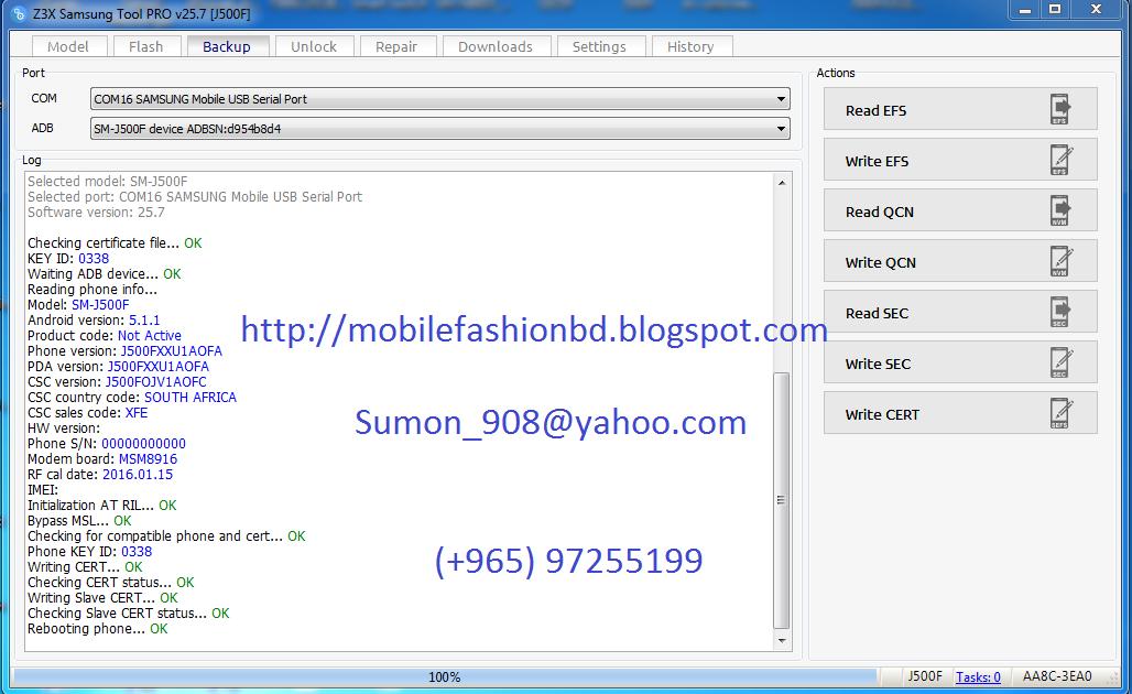 Samsung Galaxy J5 SM-J500F CERT,EFS,MSL File Free Download Hare 100