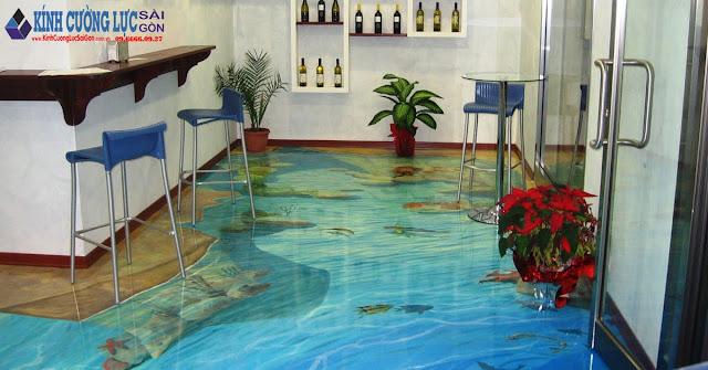 Sàn nhà bằng tranh kính, tại sao không?