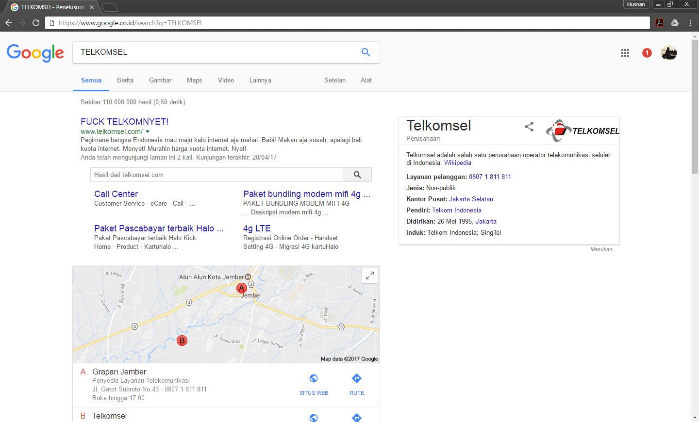 Dianggap Internet Kemahalan Situs Telkomsel Dikerjai Hacker