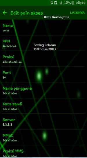Trik Polosan Telkomsel Terbaru Desember 2017