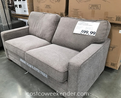 Relax, watch tv, or take a nap on the Synergy Home Fabric Sleeper Sofa