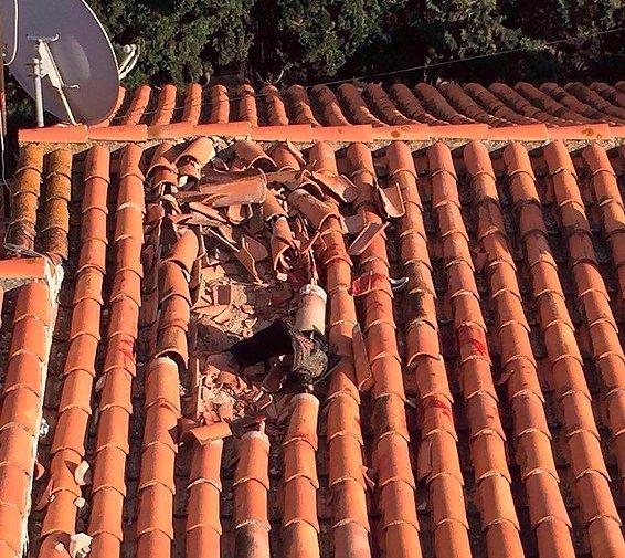 si asi quedo el tejado imaginense el