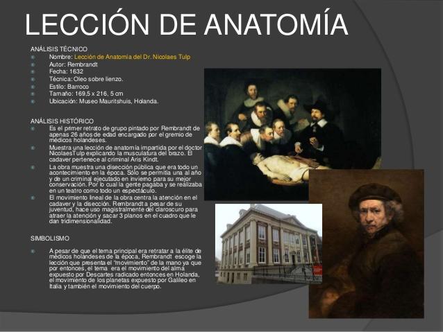 El Arca: ARTE. La lección de anatomía del doctor Tulp, por Rembrandt